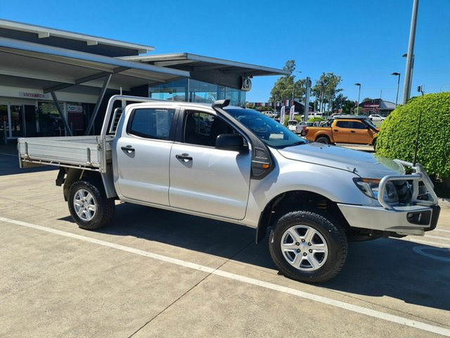 Used Ford Ranger PX XL Yamanto, 2011 Ford Ranger PX XL Silver 6 Speed Manual Cab Chassis