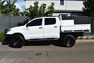 2010 Toyota Hilux KUN26R MY10 SR White 5 Speed Manual Utility.