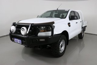 2017 Ford Ranger PX MkII MY18 XL 3.2 (4x4) White 6 Speed Automatic Crew Cab Chassis.
