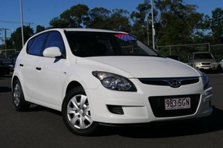 2011 Hyundai i30 FD MY11 SX White 5 Speed Manual Hatchback.