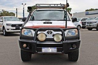 2008 Toyota Hilux KUN26R MY09 SR White 5 Speed Manual Utility.