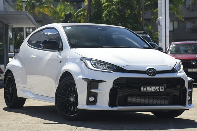 Pre-Owned Toyota Yaris Gxpa16R GR Mosman, 2020 Toyota Yaris GR Gxpa16R GR Glacier White 6 Speed Manual Hatchback