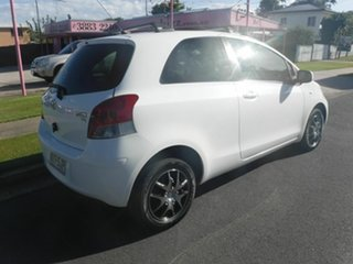 2009 Toyota Yaris NCP90R YR White 4 Speed Automatic Hatchback.