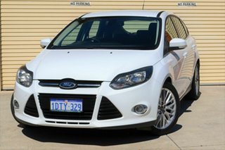 2011 Ford Focus LW Sport PwrShift White 6 Speed Sports Automatic Dual Clutch Hatchback.