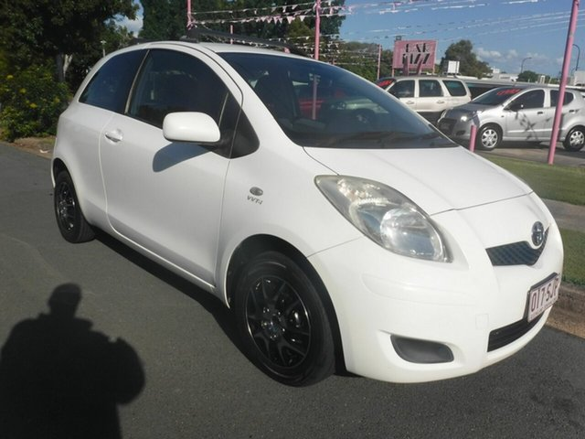 Used Toyota Yaris NCP90R YR Margate, 2009 Toyota Yaris NCP90R YR White 4 Speed Automatic Hatchback
