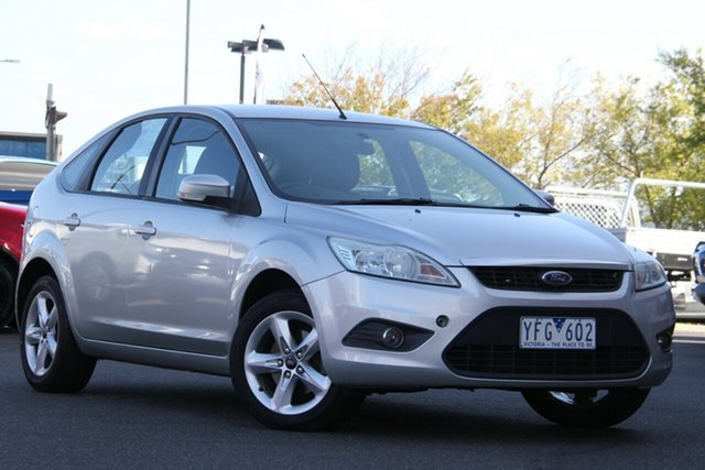 Used Ford Focus LV LX Essendon North, 2010 Ford Focus LV LX Silver, Chrome 4 Speed Sports Automatic Hatchback