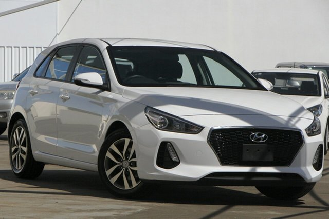Used Hyundai i30 PD2 MY20 Active Bundamba, 2019 Hyundai i30 PD2 MY20 Active White 6 Speed Sports Automatic Hatchback