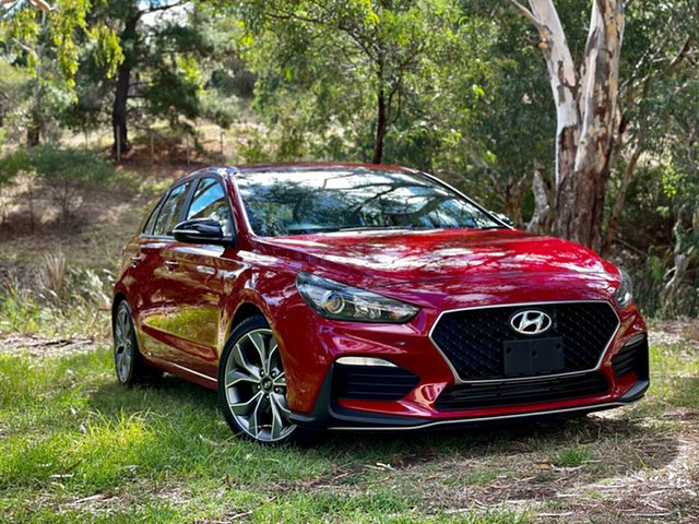 Used Hyundai i30 PD.3 MY19 N Line Reynella, 2019 Hyundai i30 PD.3 MY19 N Line Firey Red 6 Speed Manual Hatchback