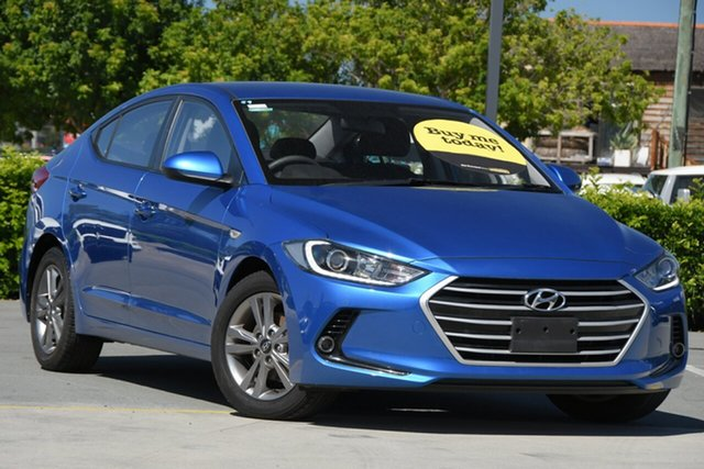 Used Hyundai Elantra AD MY18 Active Aspley, 2017 Hyundai Elantra AD MY18 Active Blue 6 Speed Sports Automatic Sedan