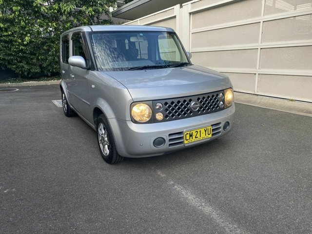 Used Nissan Cube BZ11 Zetland, 2005 Nissan Cube BZ11 Silver 4 Speed Automatic Wagon