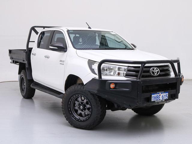 Used Toyota Hilux GUN126R SR (4x4), 2016 Toyota Hilux GUN126R SR (4x4) White 6 Speed Manual Dual Cab Chassis