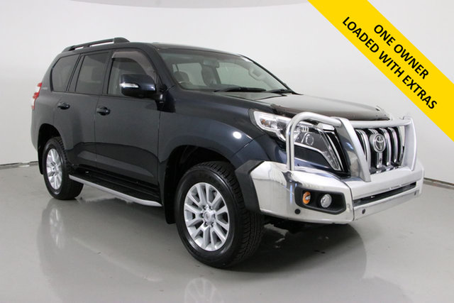 Used Toyota Landcruiser Prado KDJ150R MY14 Kakadu (4x4) Bentley, 2015 Toyota Landcruiser Prado KDJ150R MY14 Kakadu (4x4) Eclipse Black 5 Speed Sequential Auto Wagon