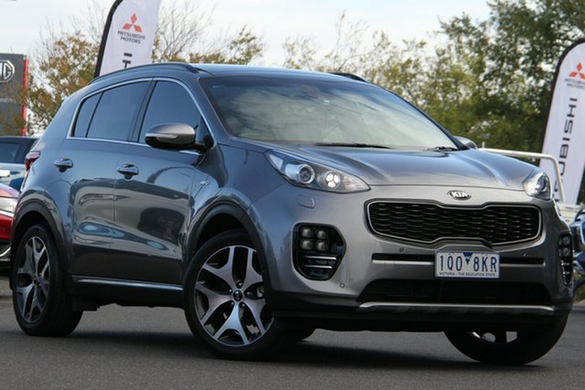 Used Kia Sportage QL MY17 GT-Line AWD Essendon Fields, 2017 Kia Sportage QL MY17 GT-Line AWD Silver, Chrome 6 Speed Sports Automatic Wagon