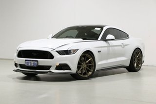 2016 Ford Mustang FM Fastback GT 5.0 V8 White 6 Speed Automatic Coupe.