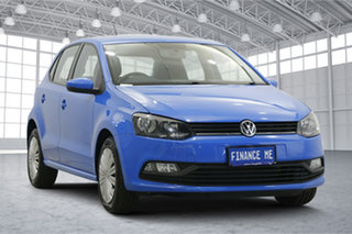2015 Volkswagen Polo 6R MY15 66TSI Trendline Blue 5 Speed Manual Hatchback.