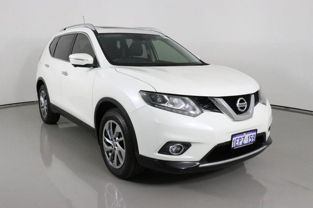 Used Nissan X-Trail T32 TI (4x4) Bentley, 2014 Nissan X-Trail T32 TI (4x4) White Continuous Variable Wagon