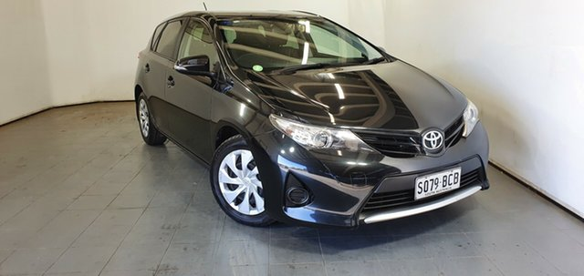Used Toyota Corolla ZRE182R Ascent S-CVT Elizabeth, 2013 Toyota Corolla ZRE182R Ascent S-CVT Black 7 Speed Constant Variable Hatchback