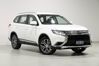 2018 Mitsubishi Outlander ZL MY18.5 ES 7 Seat (2WD) White Continuous Variable Wagon.
