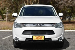 2012 Mitsubishi Outlander ZJ MY13 Aspire 4WD White 6 Speed Constant Variable Wagon.