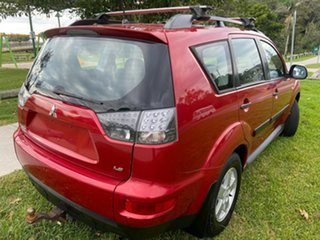 2010 Mitsubishi Outlander ZH MY11 LS 2WD Red 6 Speed Constant Variable Wagon