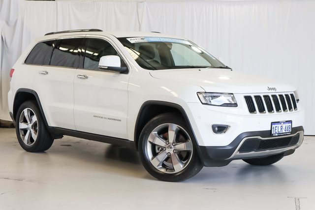 Used Jeep Grand Cherokee WK MY2014 Limited Wangara, 2014 Jeep Grand Cherokee WK MY2014 Limited White 8 Speed Sports Automatic Wagon