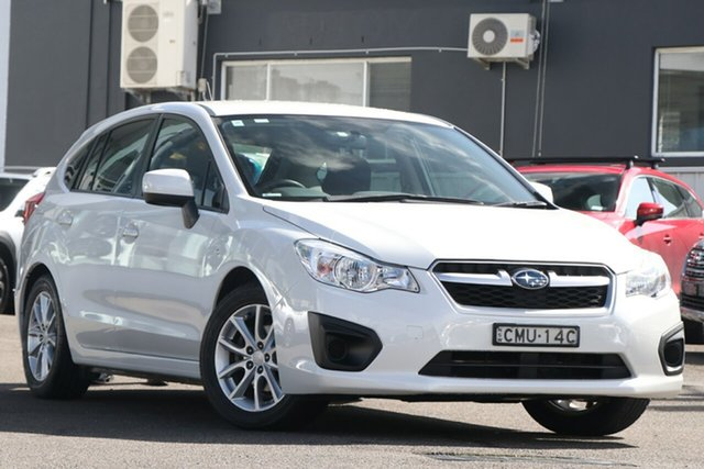 Pre-Owned Subaru Impreza G4 MY14 2.0i Lineartronic AWD Brookvale, 2013 Subaru Impreza G4 MY14 2.0i Lineartronic AWD White 6 Speed Constant Variable Hatchback