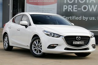 2018 Mazda 3 BN MY18 Touring (5Yr) White 6 Speed Automatic Sedan.