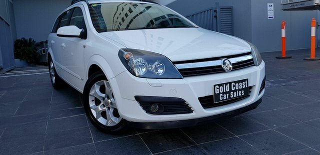 Used Holden Astra AH MY07 CDX Southport, 2007 Holden Astra AH MY07 CDX White 4 Speed Automatic Wagon