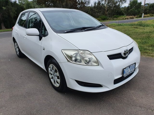 Used Toyota Corolla ZRE152R Ascent Geelong, 2008 Toyota Corolla ZRE152R Ascent White 4 Speed Automatic Hatchback