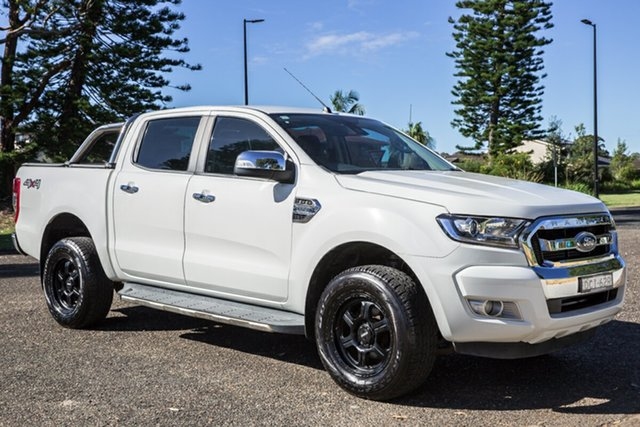 Used Ford Ranger PX MkII XLT Double Cab Port Macquarie, 2016 Ford Ranger PX MkII XLT Double Cab Cool White 6 Speed Manual Utility
