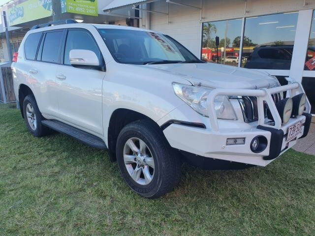 Pre-Owned Toyota Landcruiser Prado KDJ150R 11 Upgrade Altitude (4x4) Emerald, 2012 Toyota Landcruiser Prado KDJ150R 11 Upgrade Altitude (4x4) White Pearl Crystal Shine 5 Speed