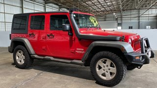 2011 Jeep Wrangler JK MY2010 Unlimited Sport Red 4 Speed Automatic Softtop.