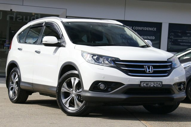 Used Honda CR-V RM VTi-L 4WD Homebush, 2013 Honda CR-V RM VTi-L 4WD White 5 Speed Automatic Wagon