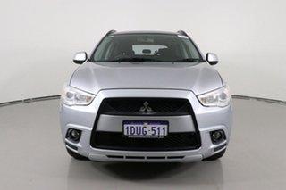 2011 Mitsubishi ASX XA (4WD) Silver Continuous Variable Wagon.
