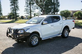 2017 Mitsubishi Triton MQ MY17 GLS Double Cab White 5 Speed Sports Automatic Utility.