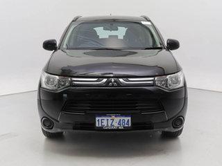 2013 Mitsubishi Outlander ZJ MY14 ES (4x4) Black Continuous Variable Wagon.