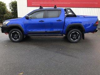 2018 Toyota Hilux GUN126R MY19 Rugged X (4x4) Nebula Blue 6 Speed Automatic Double Cab Pick Up