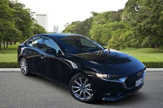 2021 Mazda 3 BP2S7A G20 SKYACTIV-Drive Touring Jet Black 6 Speed Sports Automatic Sedan.