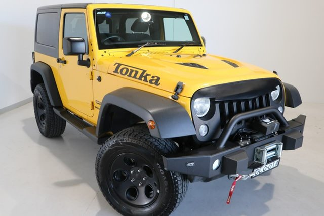 Used Jeep Wrangler JK MY2015 Sport Wagga Wagga, 2015 Jeep Wrangler JK MY2015 Sport Yellow 6 Speed Manual Softtop