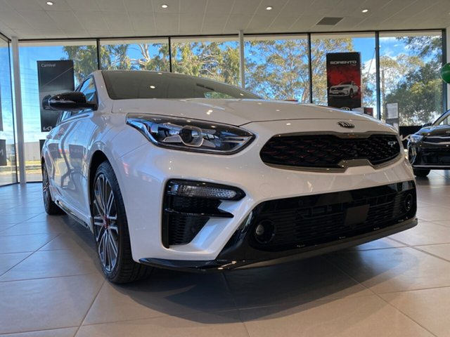 New Kia Cerato BD MY21 GT DCT Cheltenham, 2021 Kia Cerato BD MY21 GT DCT Snow White Pearl 7 Speed Sports Automatic Dual Clutch Sedan