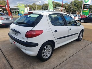 2000 Peugeot 206 T1 MY01 XR White 5 Speed Manual Hatchback.