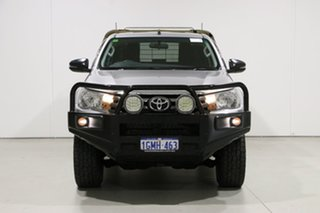 2017 Toyota Hilux GUN126R MY17 SR (4x4) Silver 6 Speed Automatic X Cab Cab Chassis.