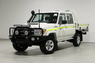 2020 Toyota Landcruiser 70 Series VDJ79R GXL White 5 Speed Manual Double Cab Chassis.