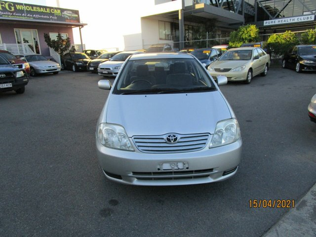 Used Toyota Corolla ZZE122R Ascent Coorparoo, 2005 Toyota Corolla ZZE122R Ascent Silver 4 Speed Automatic Sedan