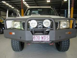 2009 Nissan Patrol GU 6 MY08 DX White 5 Speed Manual Cab Chassis