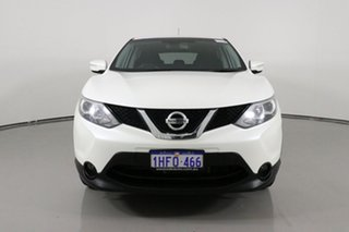 2014 Nissan Qashqai J11 TS White Continuous Variable Wagon.