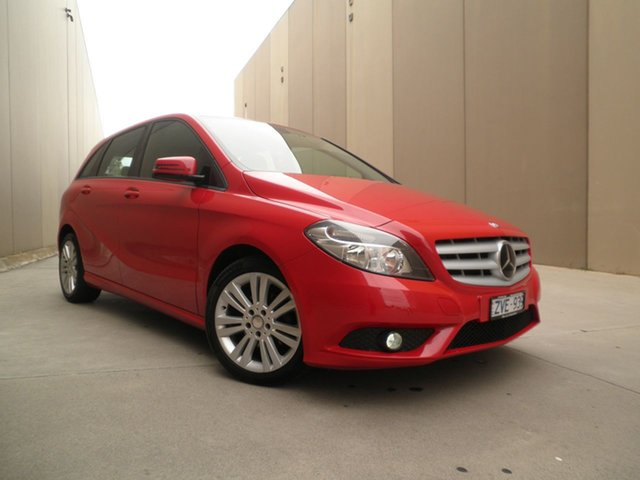 Used Mercedes-Benz B-Class W246 B180 DCT Cheltenham, 2013 Mercedes-Benz B-Class W246 B180 DCT Bright Red 7 Speed Sports Automatic Dual Clutch Hatchback
