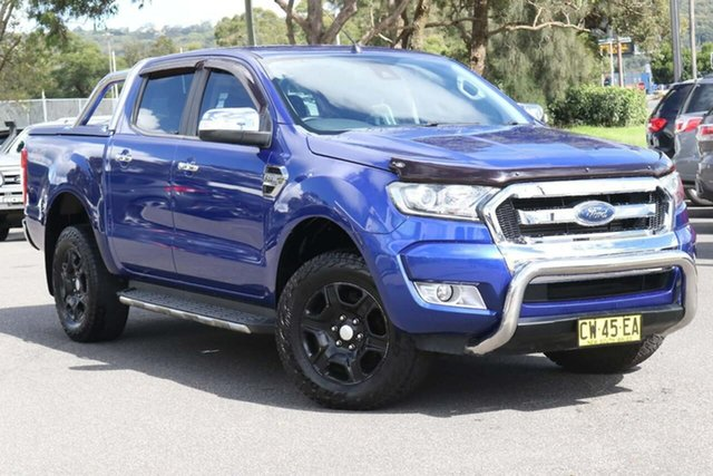 Used Ford Ranger PX MkII XLT Double Cab West Gosford, 2015 Ford Ranger PX MkII XLT Double Cab Blue 6 Speed Sports Automatic Utility