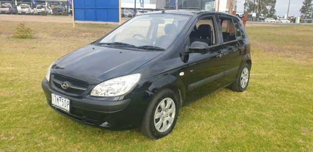 Used Hyundai Getz TB MY09 SX Melton, 2010 Hyundai Getz TB MY09 SX Black 4 Speed Automatic Hatchback