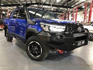 2018 Toyota Hilux GUN126R MY19 Rugged X (4x4) Nebula Blue 6 Speed Automatic Double Cab Pick Up.